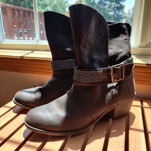 Shoes - Faux Leather Boots - Size 10.5